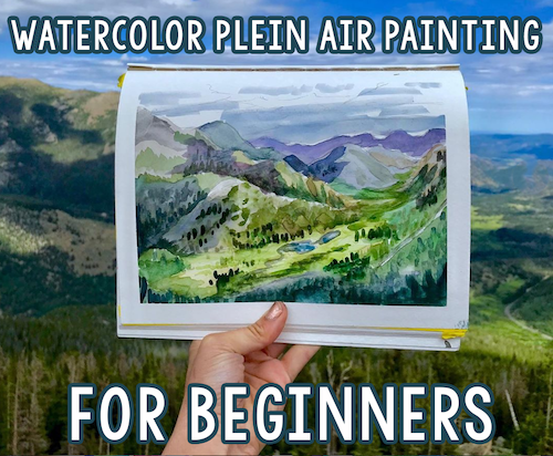 DIGITAL CLASS - Watercolor Plein Air Painting for Beginners