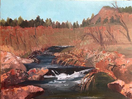 """River Rocks"" oil painting"