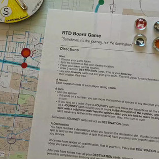 Board Game: RTD sometimes it's the journey, not the destination.