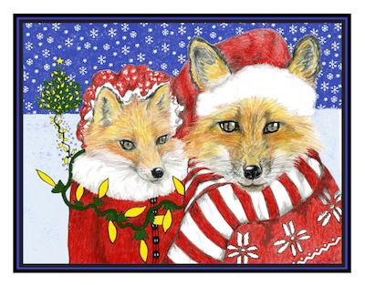 Santa & Mrs. Fox Cards