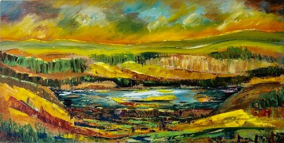 """Sun Blast/Sunset"" by Mehry Khosravi"