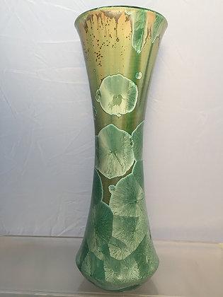 Tall Porcelain Crystal Vase