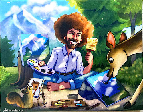 Bob Ross in Heaven