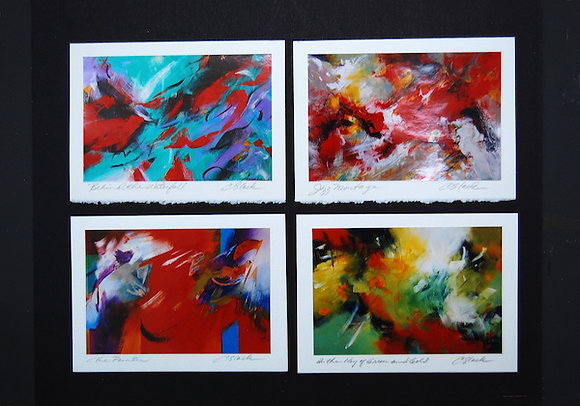 Abstract Image Cards, 4-pack