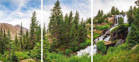 Shelf Falls to Longs Peak