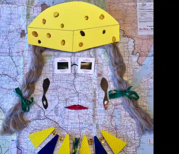 Wisconsin Cheesehead Lady