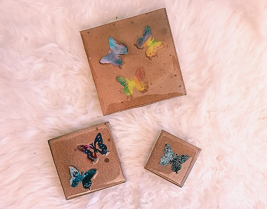 Kaleidoscope Collection Butterfly Trio - Copper