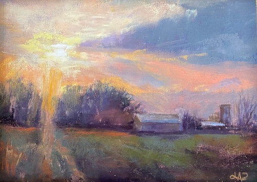 """""""Evening View Towards Long's"""" by Lydia Pottoff"""