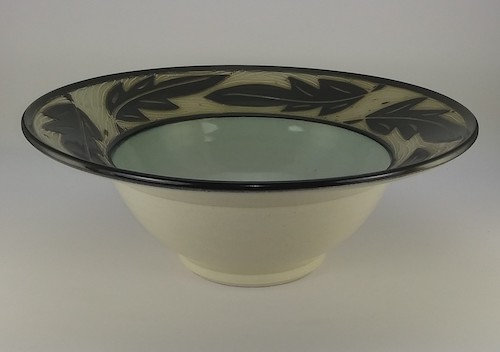 """""""Bowl with Leaves"""" by Chris Conklin"""