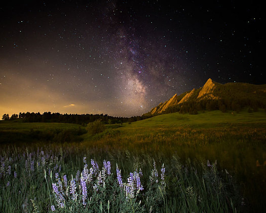 Milky Way over Boulder