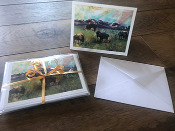 Buffalo Note Cards, Pack of 6