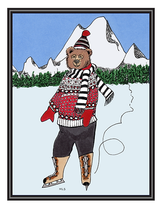 Holiday Skating Cards