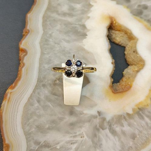Square line Art Deco design ring 307