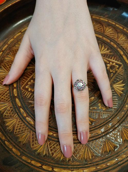 Stunning Rubies and Diamond Ring