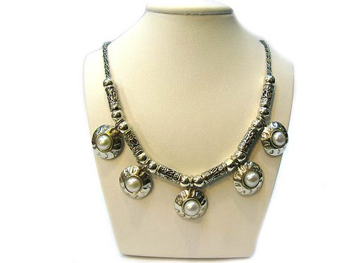 Pearls & Silver Necklace