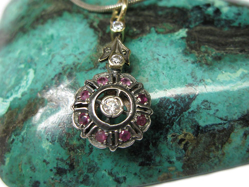 Antique style rubies Pendant