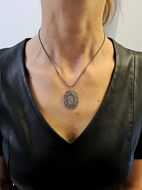 Charming Oval Viennese Pendant