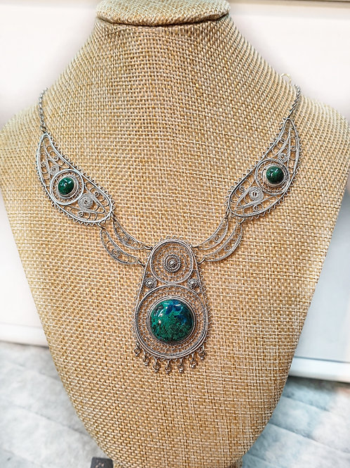 Eilat Stone Filigree Necklace