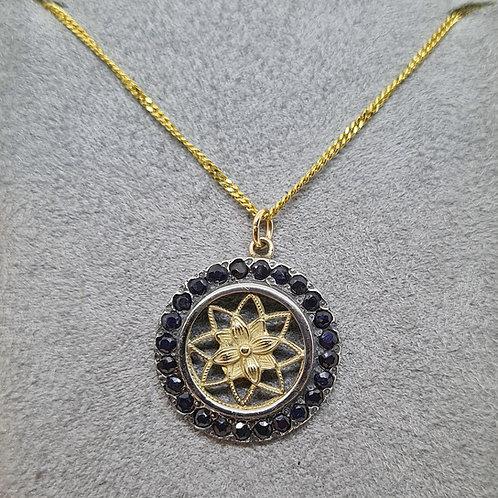 The Enchanting Sapphires & Gold Star  Pendant