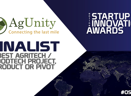 YBF Ventures selects AgUnity as finalist for best AgriTech Pivot with AgUnity Response