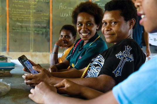 Young Person with AgUnity Phone