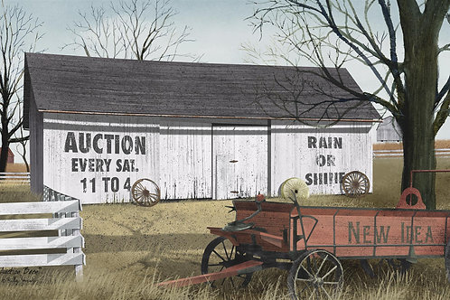 "Auction Barn Picture by Billy Jacobs 12""x 18"" #BJ459"