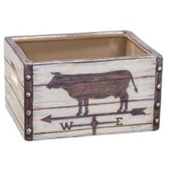 Cow Weather vane Ceramic Crate  #G38617