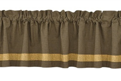 Country Star Lined Border Valance #373-47X