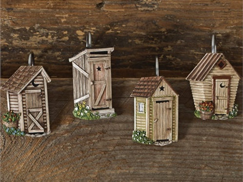 Outhouse Shower Curtain Hooks #598-65