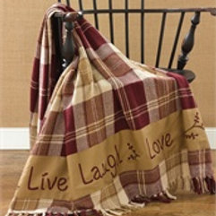 Live Laugh Love Throw #314-22