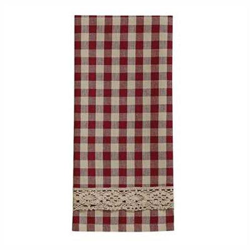 Crochet Gingham Decorative Dishtowel 455-19