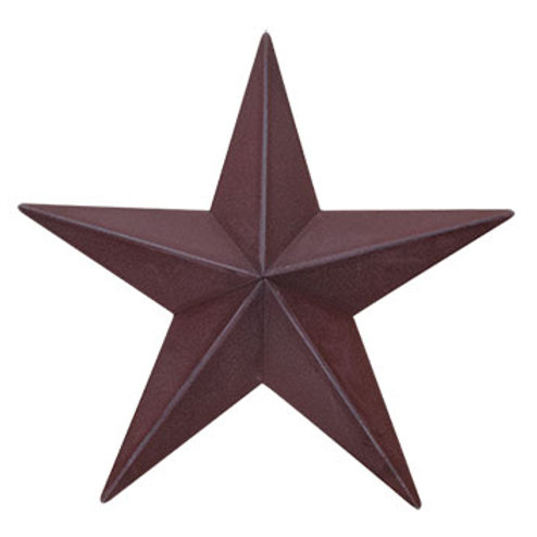 "Barn Star - 12"" - Burgundy #G46503B"