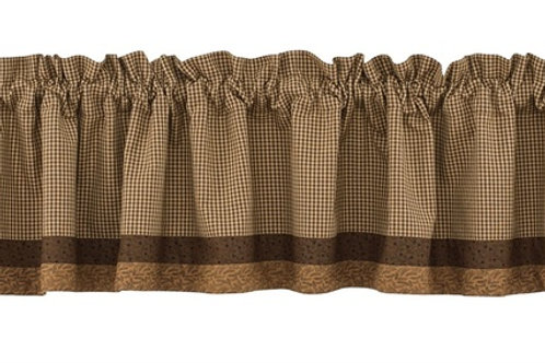 Shades of Brown Lined Border Valance #384-47X