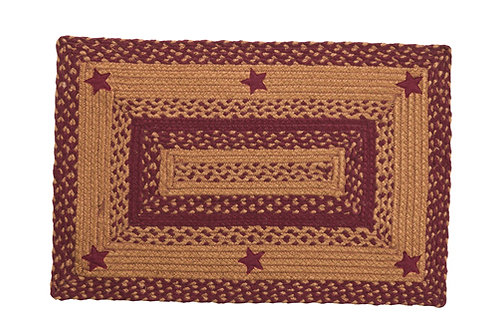 "STAR WINE 20""x30"" BRAIDED RUG RECT"