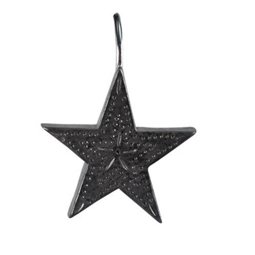 Tin Star Shower Curtain Hooks #974-65