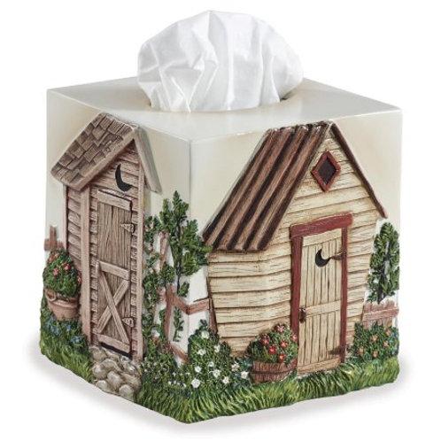 Linda Spivey Outhouse Tissue Box