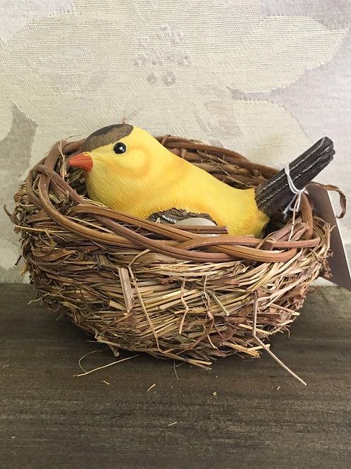 "Nesting Birds Yellow 4"" overall #2124170"