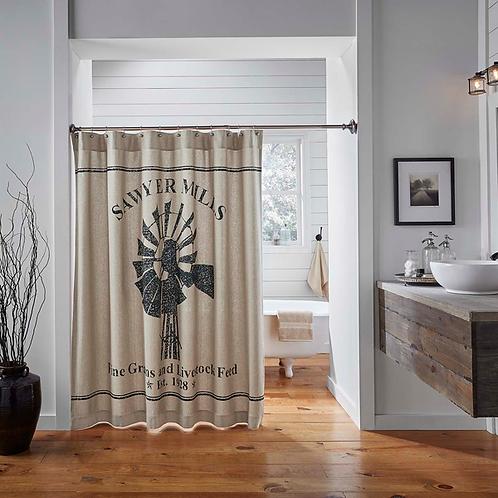 "Sawyer Mill Shower Curtain 72""x72"" #34302"