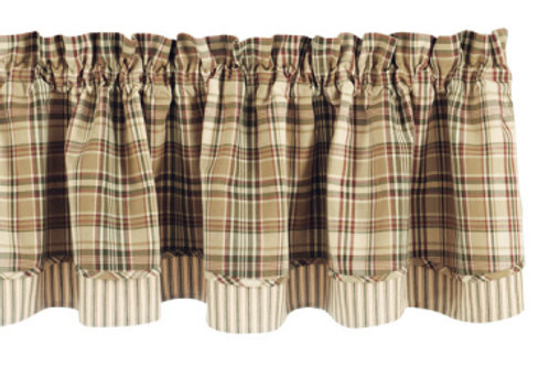 "Thyme Lined Layered Valance - 16""L  #611-471"
