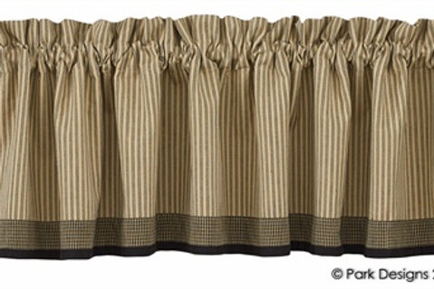 "Primitive Star Lined Border Valance 72"" x 14"" #371-47X"