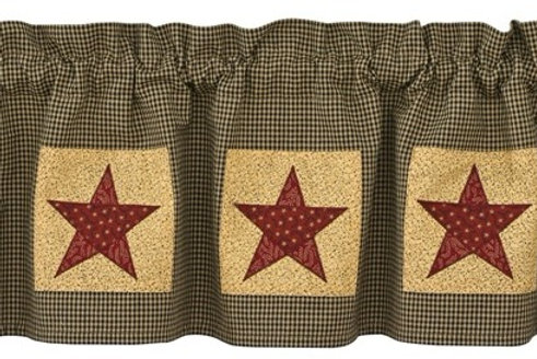 Country Star Lined Patch Valance #373-47