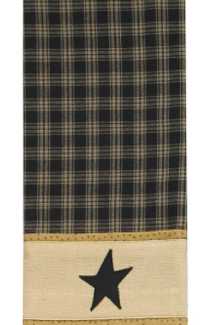 Sturbridge Star Decorative Dishtowel Black #314-19R