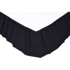 """Solid Black Queen Bed Skirt 60""""x80""""16"""" #17926"""