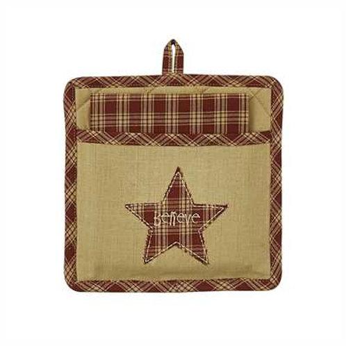 Believe Star Pocket Potholder Set #314-61