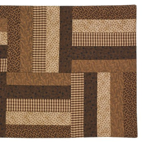 """Shades of Brown Table Runner 13""""x 36"""" #384-12"""