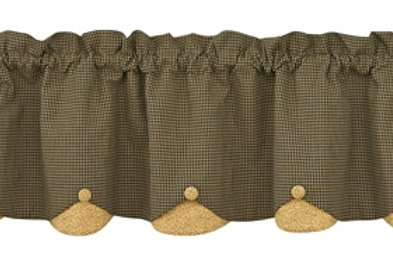 Country Star Lined Scallop Valance #373-473