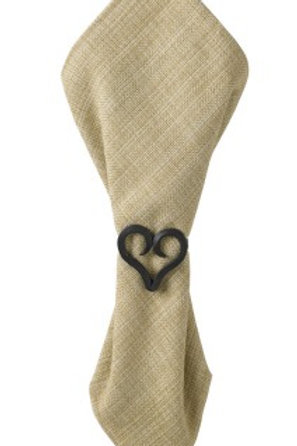 Forged Heart Napkin Ring Iron 962-75