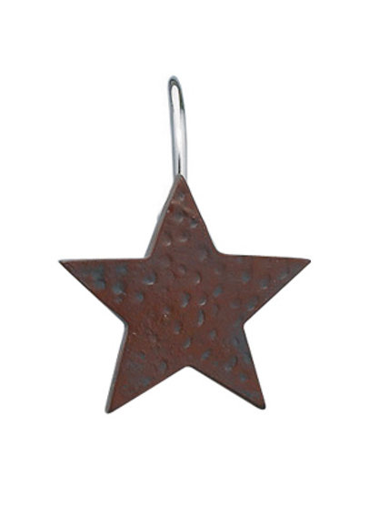 Poly Stone Star Shower Hooks Set/12 #975-65M