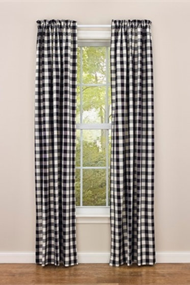 """Checkerboard Star Lined Panels - 84""""L #300-431"""