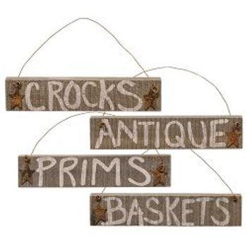 Barnwood Ornament - Antiques Asst.  #G33387